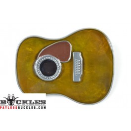 Country Guitar Belt Buckle