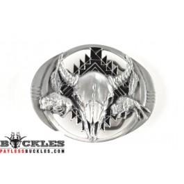 Longhorn Indian Belt Buckles