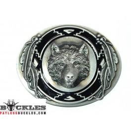 Wolf Belt Buckle