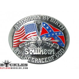 Confederate USA American Flag Southern Belt Buckle