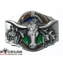 Indian Steer Head Belt Buckle