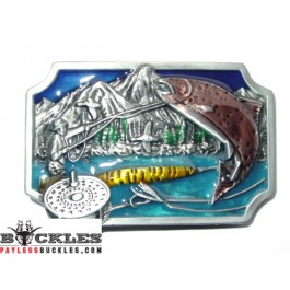 Fish Fishing Belt Buckle