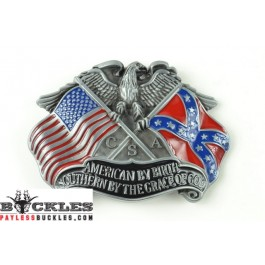 American Southern Flag Belt Buckles