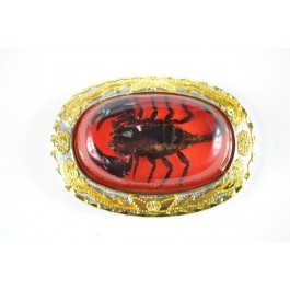 Wholesale RED Real Scorpion Belt Buckles