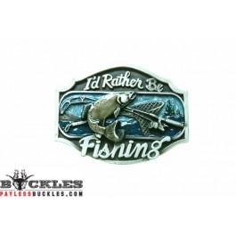 Fish I'd rather Be Fishing Belt Buckle