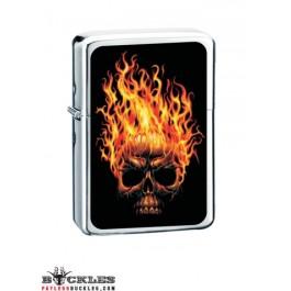 Wholesale Skull on Fire Cigarette Lighters