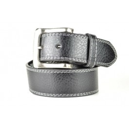 Wholesale Men's Leather Belt in Black - Fun205