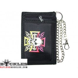 wholesale Cross Skull Chain Wallets