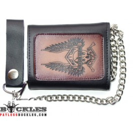 Wholesale Motorcycle Biker Leather Chain Wallets