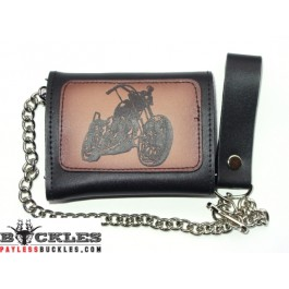 Wholesale Motorcycle Biker Leather Chain Wallets