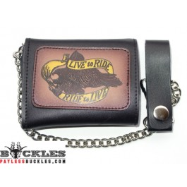 Wholesale Eagle Leather Chain Wallets