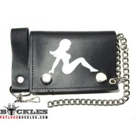 Wholesale Leather Chain Wallets Trucker Lady