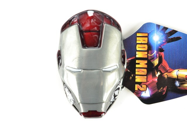 3D Iron Man Belt Buckle Silver