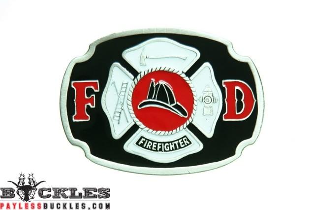 Firefighter Belt Buckle - Fire Department Belt Buckle