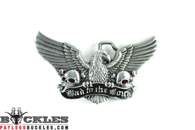 Bad To The Bone Eagle Belt Buckles