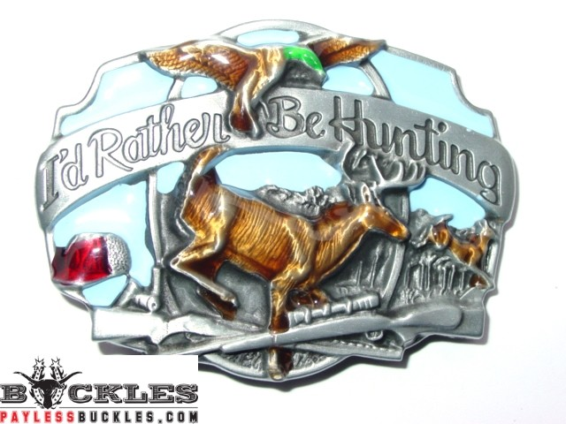 Hunting Deer Belt Buckle