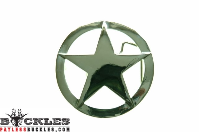 Marshal Sheriff Star Belt Buckles