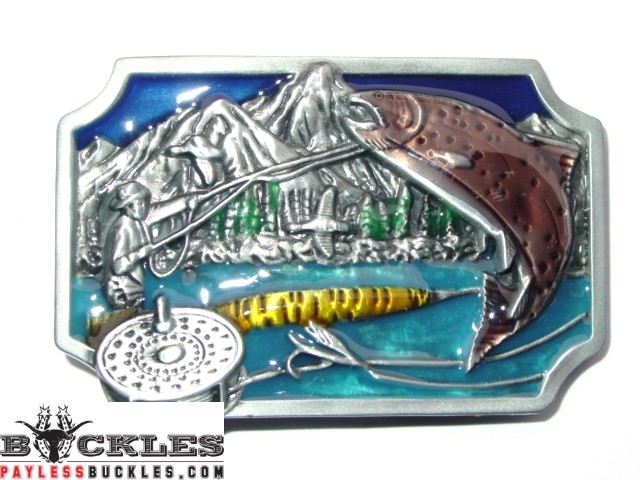 Fish Fishing Belt Buckle