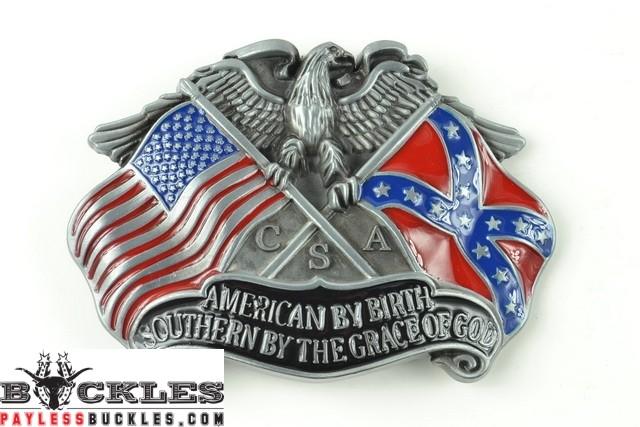 American Southern Flag Belt Buckles