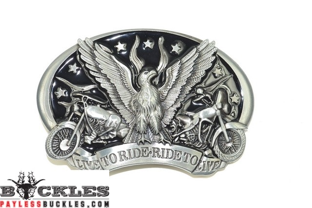 Live to Ride Ride to Live Motorcycle Biker Belt Buckles