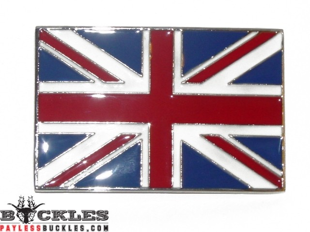 Union Jack UK England British Flag Belt Buckle