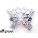 Double Gun and Knuckle Belt Buckle