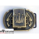 Crown Lighter Belt Buckle