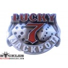 Casino Lucky 7 JackPot Belt Buckle