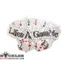 Rhinestone Life is a Gamble Belt Buckle - Card Belt Buckle