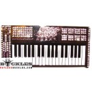 Rhinestone Piano Keyboard Belt Buckle