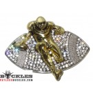 Rhinestone Sport Football Belt Buckles