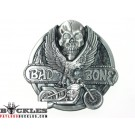 Bad To The Bone Biker Motorcycle Belt Buckle