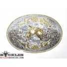 Two Tone Western Horse Belt Buckles