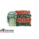 Beer Belt Buckle - Worlds Greatest Beer Drinker Belt Buckles