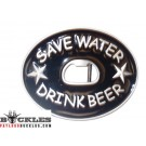 Save Water Drink Beer Belt Buckles