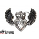 Rhinestone Heart Women Belt Buckles