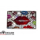Wholesale Rhinestone Women Lip Belt Buckles