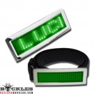 Wholesale Green Scrolling LED Belt Buckles