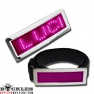 Wholesale Pink Scrolling LED Belt Buckles