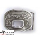 Always Open Bottle Opener Belt Buckles