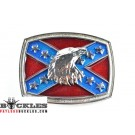 Wholesale Confederate Flag belt Buckles with Eagle Head