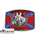 Wholesale Confederate Flag belt Buckles with Horse Head