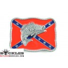 Wholesale Confederate Flag Belt Buckles With Fish
