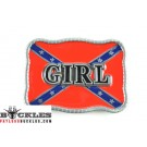 Wholesale Girl Rebel Confederate Belt Buckle