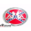 Rebel Mud Flap Trucker  Girls belt Buckle
