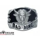 Motorcycle Biker Bad to Bone Belt Buckle