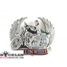 Hell On Wheels Motorcycle Belt Buckle