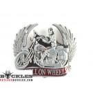 Hell On Wheels Motorcycle Belt Buckle