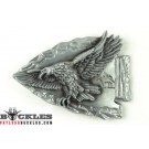Western Eagle Indian Belt Buckle