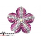 Rhinestone Flower Women Belt Buckle